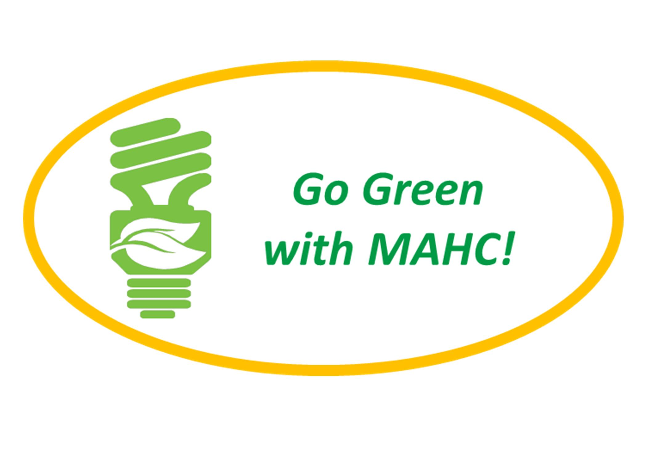 Go Green with MAHC logo