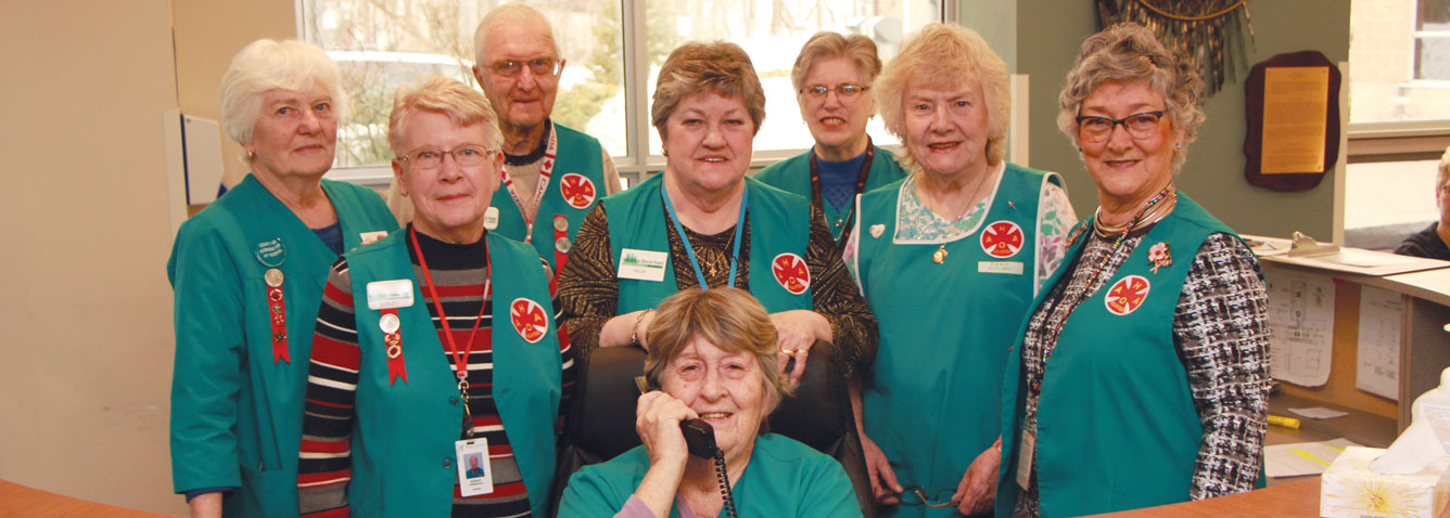 A group of Auxiliary volunteers