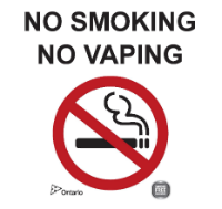 No Smoking, No Vaping on hospital grounds