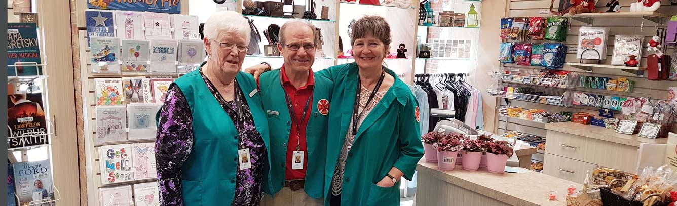 Auxiliary volunteers in a Gift Shop