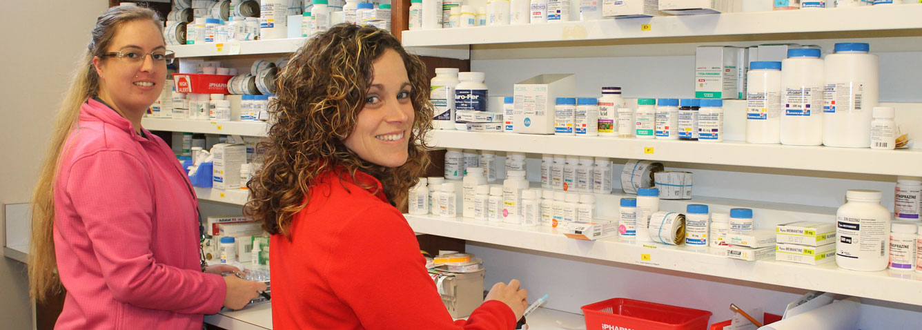 Pharmacy technicians with medications